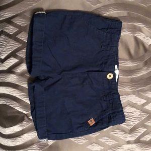 Navy chino Zara shorts